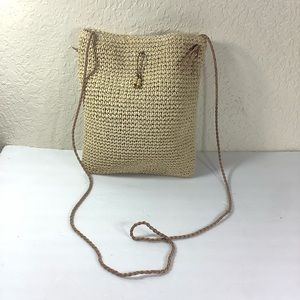 J.jill  straw crossbody bag